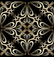 ornate gold arabesque paisley seamless pattern vector image vector image