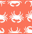 pattern with crabs vector image vector image