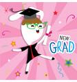 rabbit animal congratulation new graduate cute car vector image vector image