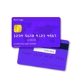 Realistic blue credit card vector image
