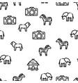 safari travel seamless pattern vector image