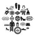 sales icons set simple style vector image vector image