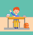 school lesson flat vector image