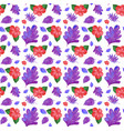 seamless background design with purple and red vector image vector image