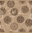 seamless background with ancient coins vector image vector image