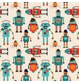 Seamless Pattern Background with Cute Hipster vector image