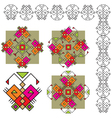 set butterfly ethnic ornaments vector image vector image