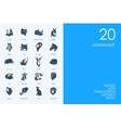 Set of BLUE HAMSTER Library mammals icons vector image