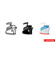 ship icon 3 types color black and white vector image vector image
