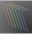 straw for beverage drinking straws of rainbow vector image vector image