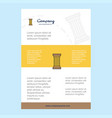 template layout for piller comany profile annual vector image