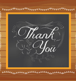 Thank you written on chalkboard vector image vector image