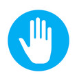 touch hand icon for mobile apps simple ui button vector image