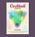 triangle cocktail mojito vector image vector image