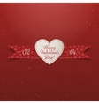 Valentines Day paper Heart Label with Ribbon vector image vector image