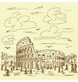 vintage hand drawn of famous ancient tourist vector image vector image