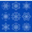 vintage snowflake set in zentangle style Original vector image vector image