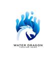 water dragon gradient logo icon vector image vector image