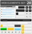 web elements set 20 vector image