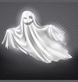 white ghost phantom halloween spooky vector image vector image