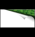 White Paper Page With Grass In Curl vector image