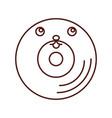 vinyl old music kawaii character vector image