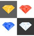3d diamond iconmultiple colours vector image