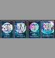 2019 party flyer poster set night club vector image vector image