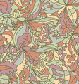 Abstract hand-drawn wave floral pattern vector image vector image