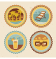 abstract logo - retro labels with summer icons - vector image vector image