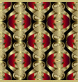abstract modern 3d greek seamless pattern vector image vector image