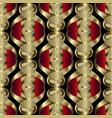 abstract modern 3d greek seamless pattern vector image