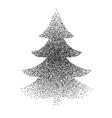 abstract polka-dot stipple Christmas vector image vector image