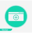 add web page icon sign symbol vector image
