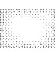 binary computer code halftone pattern vector image vector image
