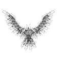 black blots raven vector image vector image