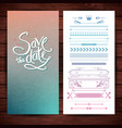 blue and pink save the date text and borders vector image vector image