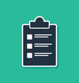 blue clipboard with checklist icon isolated on vector image vector image