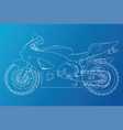blueprint sport bike eps10 format created vector image vector image