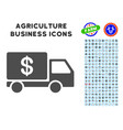cash delivery icon with agriculture set vector image vector image