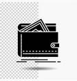 cash finance money personal purse glyph icon on vector image vector image