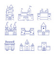 castles medieval old buildings ancient old tower vector image vector image