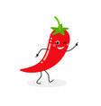 cheerful cartoon chili vector image
