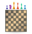 chess board game vector image vector image