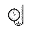 clock antique black vector image vector image