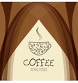 Coffee house background design template vector image vector image