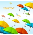 colorful umbrellas flying high vector image vector image