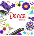 dance zone night club disco poster vector image