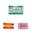 design of ticket and admission icon set of vector image vector image