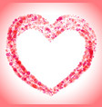 detailed decorated heart shape icon vector image